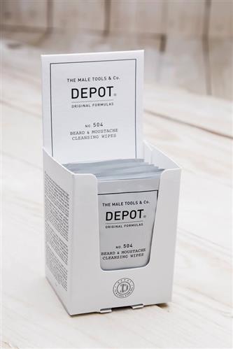 Depot Beard & Moustache Cleansing Wipes No.504
